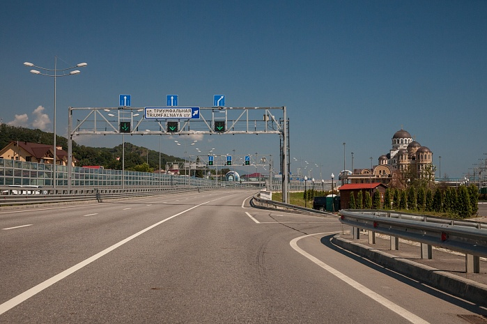 M-27 Highway from Dzhubga to Sochi up to the border with Georgia on the Adler to Vesyoloye section (2013)